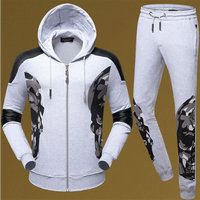 philipp plein Tracksuit hoodie pour man leather shoulder